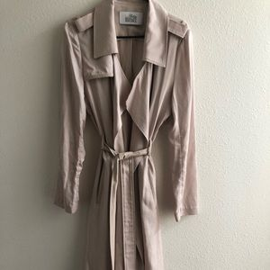 Belle Badgley Mischka Trench Coat